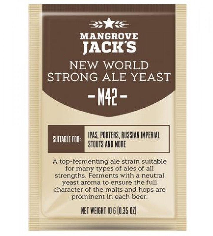 Дрожжи Mangrove Jack's New World Strong Ale M42, 10г